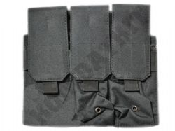 Triple Rifle Magazine Pouch M4/M16 M14/G36 MOLLE Black (P005)
